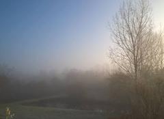 Brouillard givrant ce matin