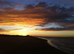 Ciel Bray-Dunes 59123 Coucher de soleil