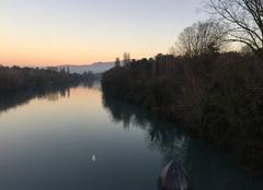 L'Isère au crépuscule