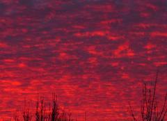 Crépuscule hivernal à L'Hôpital