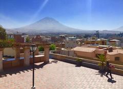 Ciel Arequipa Soleil et ciel bleu d'Arequipa au Pérou