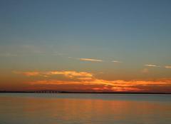 Coucher de soleil sur la baie de Bourgneuf
