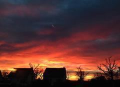 Ciel Troarn 14670 Levé de soleil