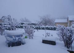 Neige Vedrines-Saint-Loup 15100 Le Cantal sous la neige