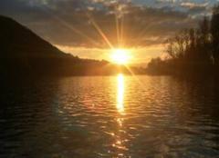 Ciel Badefols-sur-Dordogne 24150 Coucher de soleil sur la riviere espérance ...