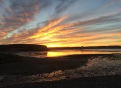 Ciel Camaret-sur-Mer 29570 Le soleil se lève sur la presqu'île de Crozon
