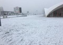 Il commence à neiger entre LAVAL et st berthevin