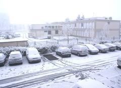 De la neige dans mon quartier