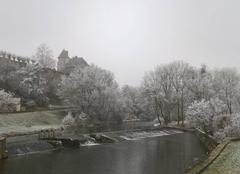 Froid et blancheur en Mayenne