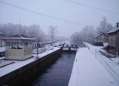 Neige Saint-Quentin 02100 Neige sur le canal de St-Quentin