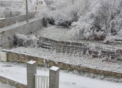 Neige à Rouvres en Multien