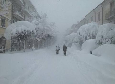 Tempête de neige dans le sud de l'Italie