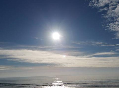 Soleil sur l'océan