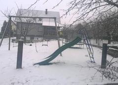 De la neige.