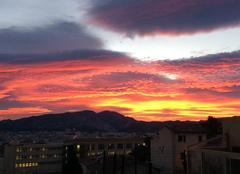 Ciel de feu ce matin au levé du soleil