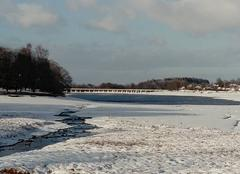 Neige Chaumousey 88390 Lac de Bouzey gelé