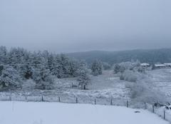 Tempête de neige sur la Chapelle en Lafaye
