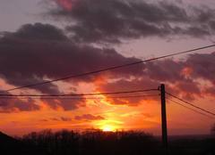 Ciel Ecuras 16220 Coucher de soleil à Ecuras