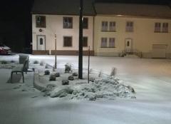 Il neige en Alsace bossue.