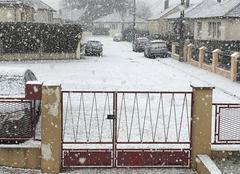 Il neige à Saint just en chaussée