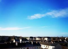 Ciel Allonnes 72700 Température fraîche ressentie 2 degrés mais beau soleil