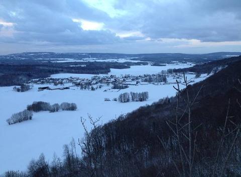 Neige sur les plateaux du Doubs.