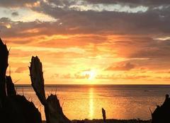 Ciel Saint-Pierre 97500 Coucher de soleil à La Réunion