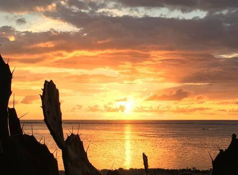 Coucher de soleil à La Réunion
