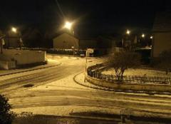 Neige Maizieres-les-Metz 57280 Ce soir devant chez moi...