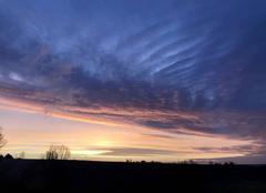 Ciel splendide à 8h20