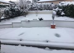 Saint-Galmier sous la neige