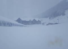 Tempête de neige station Peyragudes