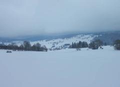 Neige La Longeville 25650 Paysage hivernal