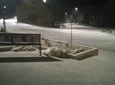 Voilà il neige sur l'Alsace bossue.