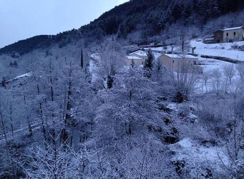 Quartier Rochemaure sous la neige
