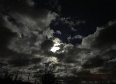 Nuages La Ferte-Saint-Aubin 45240 Nuages et lune