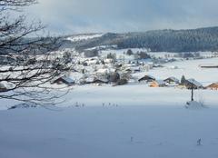 Neige La Chaux 25650 Paysage hivernal