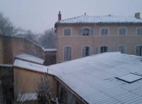 Neige à Valréas