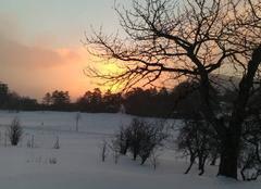 Neige Plan-de-Baix 26400 Lever de soleil