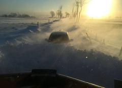 Tempête de neige dans le cantal