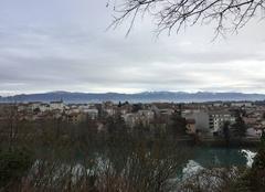 Au fil de l'Isère cet après-midi sous une bise glaciale