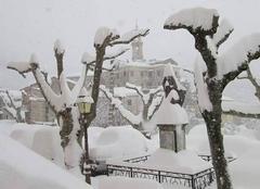 Tempete de neige en corse