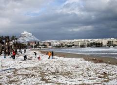 Il a neigé ce matin à JAVEA Espagne