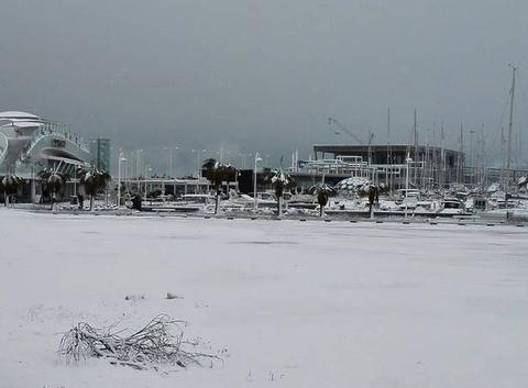 Denia sous la neige