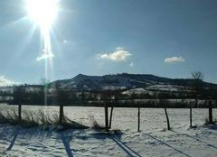 Insolite Severac-le-Chateau 12150 Soleil et neige