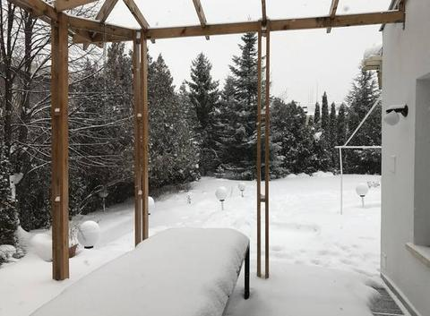 Snowing in Sofia