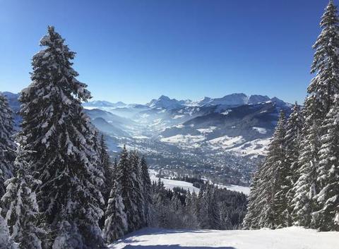 Le Mont Charvin et Megève