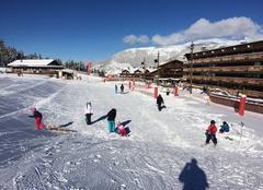 Front de neige courchevel village