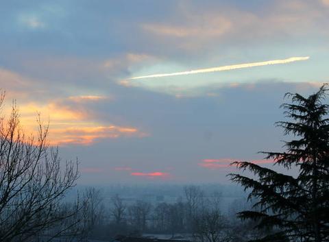 Ciel de ce Vendredi 20 Janvier 2017 à 8 h 56 St Lézer 65.