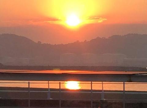 Couché de soleil Gijón Asturies